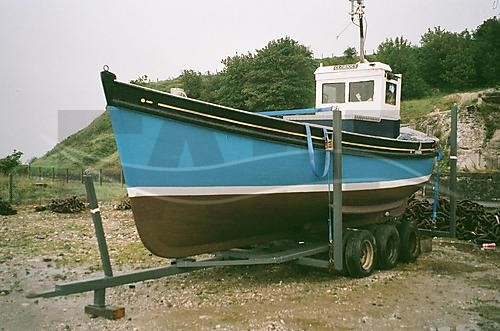 Link to picture 1 for Carvel Built Wood fishing boat for sale