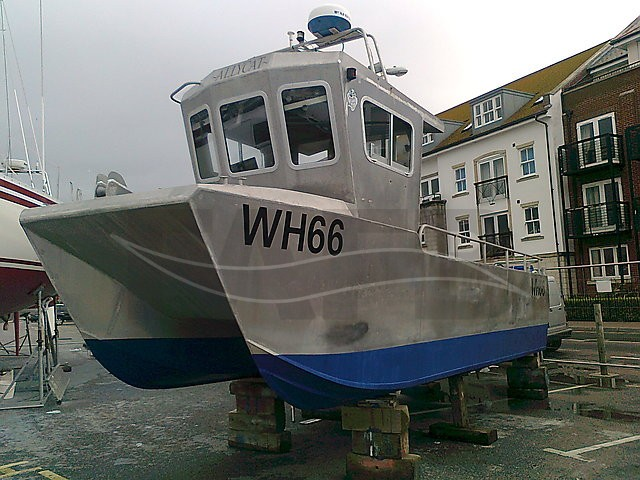 Picture of Aluminium catamaran fishing boat for sale