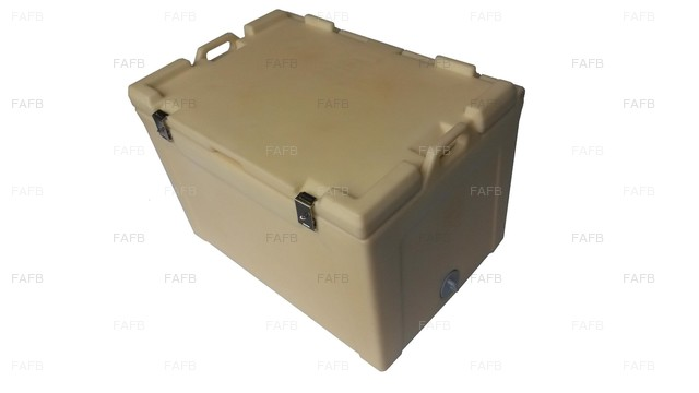 100 Ltr Hinged lid Insulated Fishtubs - picture 1