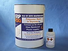 5KG POLYESTER RESIN + CATALYST FOR FIBREGLASSING - ID:24862