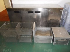 STAINLESS FRIDGE WITH ALLOY POTS WITH STAINLESS BASKETS - ID:69904