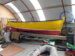 Wooden, Clinker- built traditional Grimsay Boat - Uiseag (Gaelic for Skylark) - ID:69651