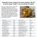 NEW AND REBUILT CATERPILLAR MARINE ENGINES FOR SALE - picture 4
